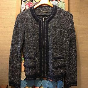 Talbot's navy knit blazer size 10